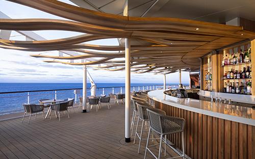 Sunset Bar outside on cruise deck