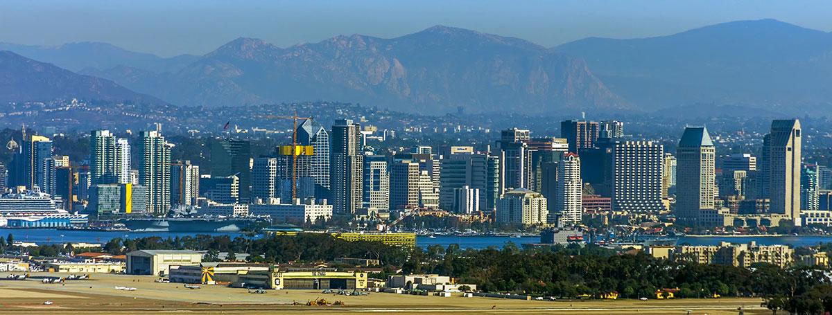 San Diego California Panoramic City View