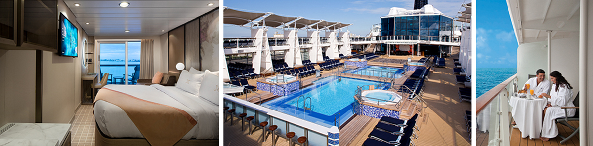 Ship suite, pool and deck photo